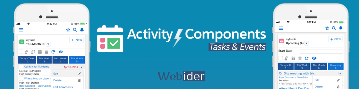 Spring'19 Release Notes - Activity Lightning Components